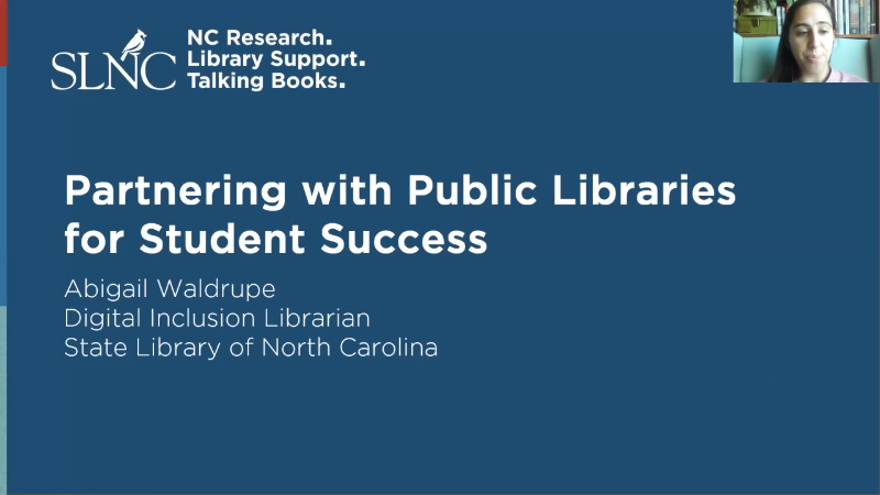 Partnering with Public Libraries for Student Success