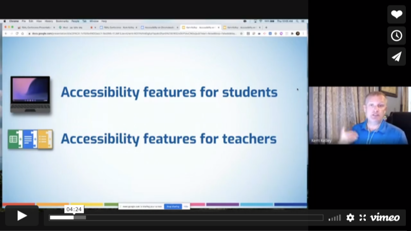Accessibility on Chromebooks and using G Suite with Special Education Students
