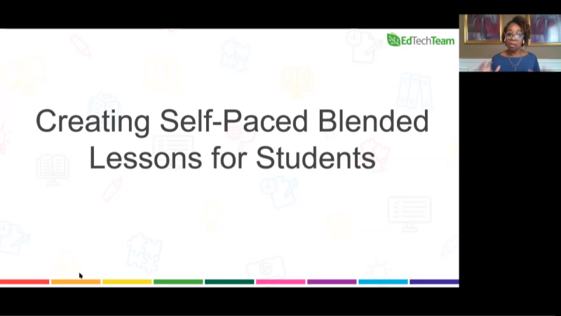 Creating Self-Paced-Blended Lessons for Students
